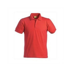 Unisex Cotton Mens Polo Red T Shirts, For Raguler Wear