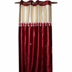 Printed Velvet Door Curtain, Size: 9 Feet
