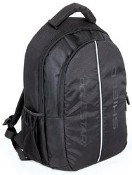Polyester Black Padded Laptop Backpack