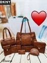 Dknyset Of 8 Pcs Combo 5 Colours Handbag