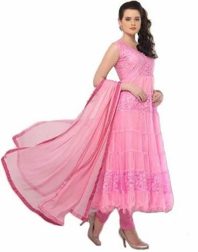 Pink Braso Net Dress Materials 1fdfb628d