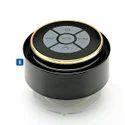 Bluetooth Waterproof Speaker - Black With Gold Rim