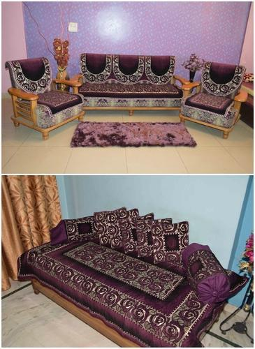 Awesome Diwan Set Combo Orient Sbds Purple Bed Cover Manufacturer Lamtechconsult Wood Chair Design Ideas Lamtechconsultcom