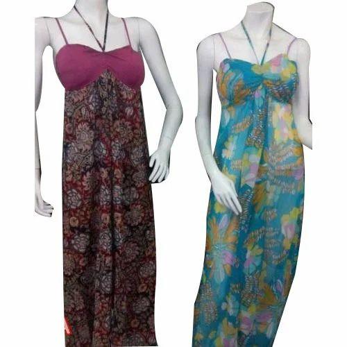 8349335ff5 Women Beach Wear Dress - Chiffon And Cotton Print Beach Wear Dress ...