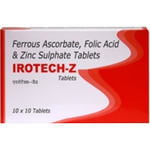 Ferrous Ascorbate Folic Acid Zinc Sulphate Tablet At Rs 110 Pack