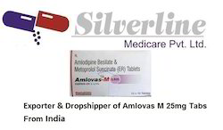 Amlovas M 25mg Tablets