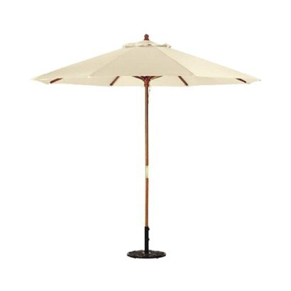 Wicker Hub Wooden Patio Umbrella, Size: Dia.2.7 Mx8 Ribs