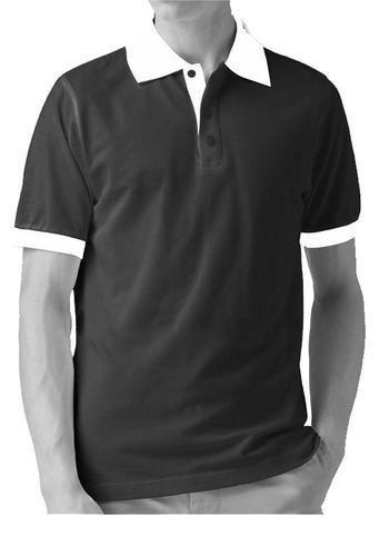 White Collar Black Shirt Custom Shirt