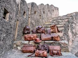 Handicraft Villa Handmade Vintage Genuine Leather Designer Bags, Packaging Type: Export Quality Packing