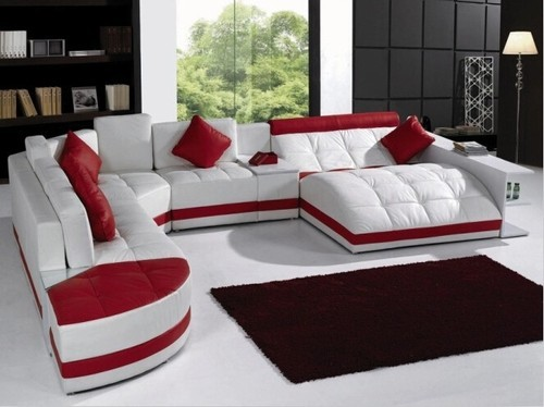 Red White Black Sofa Sets Rs 45000 Set Krishna Furnitures Limited