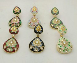 Meena Hand Painted Earring