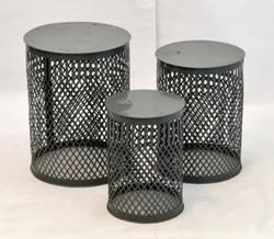 Metallic Stool Set