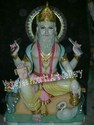 Marble Lord Vishwakarma Statue