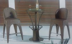 Miranda Style Outdoor Wicker Bar Set