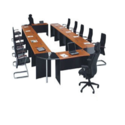 Wooden White Conference Rectangular Table