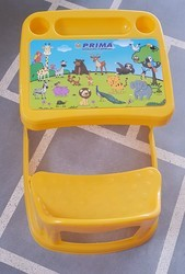 Yellow Plastic Kids Table Chair, Age: 4 to 8 Year