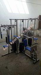 Iron SS Fit 6 Station Multi Gym, For Household, Weight: 500 Kg