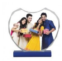 RED MOMENTS Heart Crystal Photo Frame, For Gift, Size: 3*3