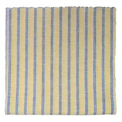 Yellow and Blue Striped Fabric