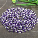 Amethyst Sterling Silver Gemstone Beaded Chain