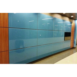 Sky Blue 4 - 20 mm Back Painted Office Glass