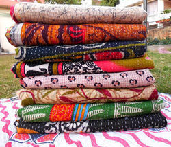 Indian Sari Kantha Quilt