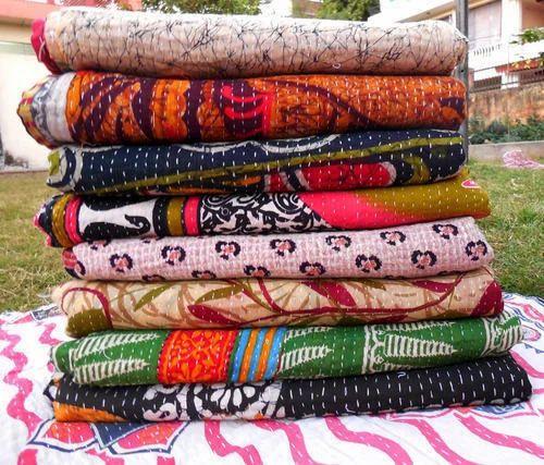 Indian Sari Kantha Quilt Blankets Quilts J K Handicraft