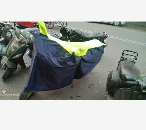 Blue N Yelliw Rafta 190 Bike Parking Cover Duel Colour
