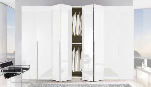 Metal Wardrobe Wooden Bifold Doors For Bi Fold