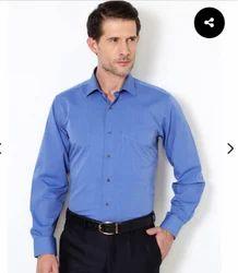 Blue Printed & Striped Formal Shirts