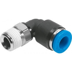 Round Head Rubber, Aluminum Pneumatic Male Elbow Fitting, 0.1-0.9 Mpa
