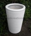 纤维增强塑料白色小肋骨光泽播种机,用于装饰,花园,尺寸:标准
