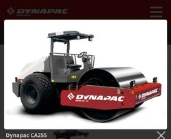 DYNAPAC Red/ Grey Soil Compactor, Single Drum Vibratory Roller