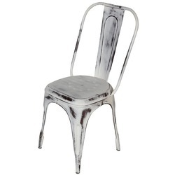Rustic Finish Metal Industrial Antique Tolix Chair For Restaurant, Size: 45 X 45 X 90 Cm