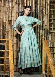 Designer Kali Style Long Rayon Kurti