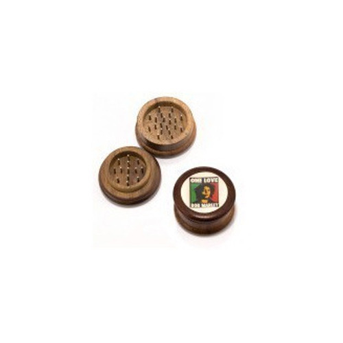 Wooden Grinders with stickers