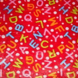 Alphabet Flannel Fabric