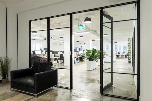 Office Aluminium Glass Door, Aluminium Doors - Prime Facade, Jhajjar ...