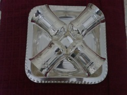 Silver Plated Glass With Tray Set