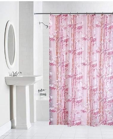 Floral Usage Application Bathroom PLASTIC SHOWER CURTAINS Shape Rectangle