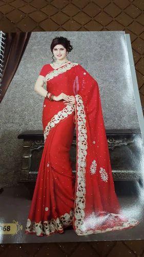 9238121eab Satin Hand Work Saree at Rs 700 /piece(s)   Designer Sarees   ID ...