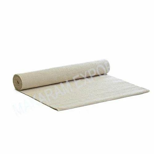 Makaram Exports Plain Organic Cotton Yoga Rug, Size: 24