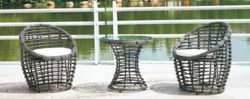 Simple Design Outdoor Wicker Coffee Set