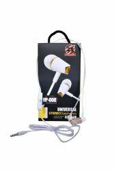 RS White Universal Stereo Earphones