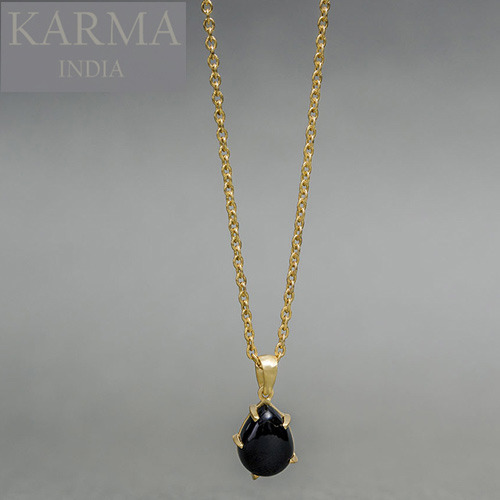 Designer gold plated pendant with black onyx karma enterprise designer gold plated pendant with black onyx aloadofball Images