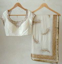 Georgette Saree With Studded Stone Blouse