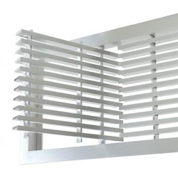 Powder Coated Aluminium Aluminum Door Grills, For Ac, For Refrigerate