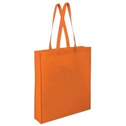 Orange Non Woven Handbag