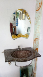 Glass Mirror Wash Basins