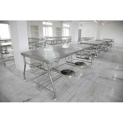 Mechvision SS Canteen Table With Sliding Tools, Seating Capacity: 8